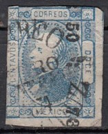 Mexico Michel Hidalgo 1872  YT N°50   12c Bleu - Mexico