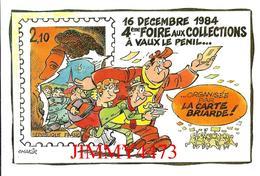 CPM - VAUX LE PENIL 77 Seine Et Marne - 4è FOIRE AUX COLLECTIONS Dec.1984 - Carte Numérotée 1098 / 2000 Dessin J. Chakir - Bourses & Salons De Collections