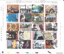 Belgique 2000 Bloc Art Kunst, Le Tour Du 20 ème Siècle En 80 Timbres - Belgique