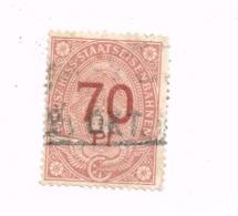 Preuss-Hess.Eisenbahnen. 70 Pfennig - Oblitérés