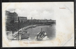 CPA ANGLETERRE - London, Thames Embankment - River Thames