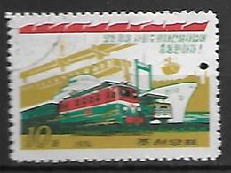 COREE  DU  NORD   -    1974 .   Transports.  Train / Bateau / Camion.   Oblitéré - Corea Del Nord