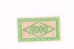 Fiscal. Einkommensteuer. 4000 Mark.MNh,Neuf Sans Charnière,Falzlos - Allemagne