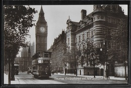 CPA ANGLETERRE - London, Thames Embankment And New Scotland Yard - River Thames