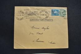 France - 1930 : Type Blanc 111 - Semeuse 217 Sur Lettre Papier D'affaires Pour Lauzanne Suisse - 1921-1960: Periodo Moderno