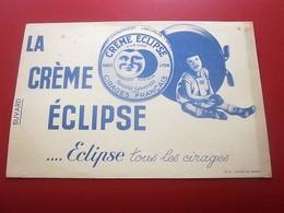 Buvard Collection Illustré CREME CIRAGE ECLIPSE LYON BUVARD Publicitaire Publicité PRODUIT ENTRETIEN CHAUSSURES - Blotters