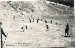 VALLE VERMENAGNA - LIMONE (ALT. M. 1010) ESERCITAZIONI CON GLI SKI. ITALY ITALIA POSTAL CPA CIRCA 1900's NOT USED -LILHU - Cuneo