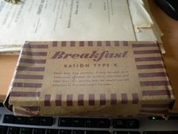 WW2 Breakfast Ration Type K  Packaged By Beech Nut Packing Co Canajoharie N Y - 1939-45