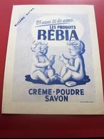 Buvard Collection Illustré CREME POUDRE SAVON REBIA  BUVARD Publicitaire Publicité - Perfume & Beauty
