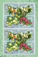 2019-2456-2459 M/S Russia FLORA: FRUITS: Strains Of Apple Trees  Mi 2673-2676 MNH - 1992-.... Fédération