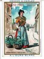 CHROMOS AMIDON E. VERLEY A L'OURS BLANC  - Petit Métier - Cresson D'fontaine - Usines à MARQUETTE - LILLE - Sonstige