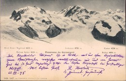 Ansichtskarte Domodossola Monte Rose 1889 - Zonder Classificatie