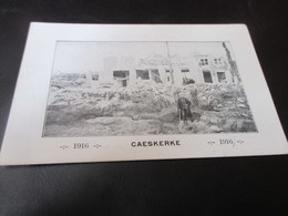 Caeskerke 1916 - Guerre 1914-18