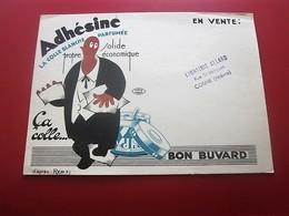 Buvard Collection Illustré ADHESINE COLLE BLANCHE PARFUMEE LIBRAIRIE ALLARD COSNE NIEVRE BUVARD Publicitaire Publicité - Stationeries (flat Articles)