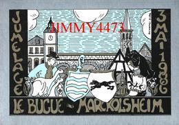 CPM - SOUVENIR DU JUMELAGE LE BUGUE 24 Et MARCKOLSHEIM 67 En Mai 1986 - Carte Numérotée 191 / 2000 Ex. Edit. Les S.I. - Bourses & Salons De Collections