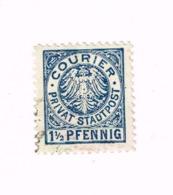 Courier Privat Stadtpost.1 1/2 Pfennig - Autres