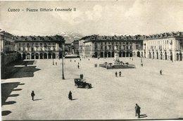 CUNEO - PIAZZA VITTORIO EMANUELE II. ITALY ITALIA POSTAL CPA CIRCA 1900's NOT USED -LILHU - Cuneo