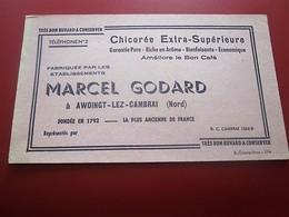 Buvard Collection Illustré CAFE CHICOREE MARCEL GODARD AWOINGT-LEZ-CAMBRAI NORD BUVARD Publicitaire Publicité - Coffee & Tea