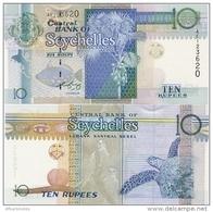 SEYCHELLES       10 Rupees       P-36b       ND (2010)       UNC  [ Sign. Chang-Leng] - Seychelles