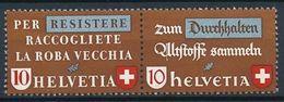 Schweiz Suisse 1942: Altstoff-Zusammendruck Se-tenant Zu Z33 D Mi WZd.5 ** MNH (Zu CHF 27.00) - Se-Tenant