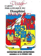 CPM - GRENOBLE 38 Isère - EXPOSITION CARTO PHILATELIQUE DU DAUPHINE Février 1985 - Carte Numérotée 01770 - Bolsas Y Salón Para Coleccionistas