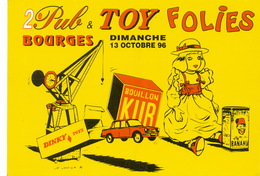Publicité Pour Pub Et Toy Folies à Bourges 1996 Bouillon Kub , Banania , Dinky Dessin De M. Janvier 10/15 - Publicité
