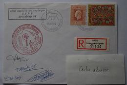 5-041 Rare Recommandé  Spitzberg Autographe  1984 Longyearbyen  Expedition Française No TAAF Amiens - Forschungsprogramme
