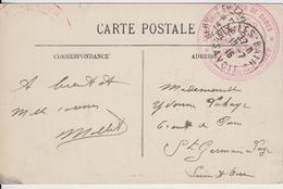 """SAVOIE CP 1915 AIX LES BAINS FM HOPITAL  """" AMBULANCE PENSION DE DAME BOULEVARD DES COTES AIX LES BAINS  """" - Marcophilie (Lettres)"""