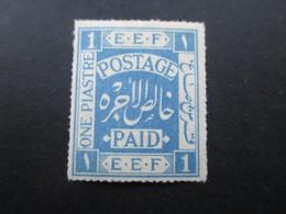 Palästina Brit. Militärverwaltung 1918 Nr. 2 E.E.F. Postage Paid Mit Falz / * - Palästina
