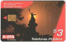 ECUADOR A-017 Chip Porta - Landscape, Sunset - Used - Ecuador
