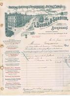 GIRONDE - BORDEAUX - L. BOYER & A. SORBIER - Pressoirs, Pompes, Engrais, Moteurs, Locomotives, Etc... - France