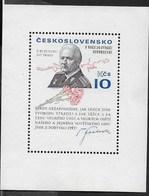 CECOSLOVACCHIA - 80° ANNIVERSARIO PRESIDENTE SVOBODA - 1975 - FOGLIETTO NUOVO S.G. * (YVERT BF37 - MICHEL BL31) - Blocchi & Foglietti
