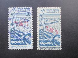 Palästina / Israel 1948 Interimspost Negev Marke Abart OHNE WERT Roter DOAR Aufdruck. RRR Und Selten Angeboten!! - Ungebraucht (ohne Tabs)