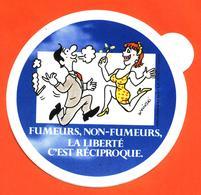 Autocollant Fumeurs , Non Fumeurs La Liberté C'est Réciproque - Illustrée Par Wolinski - Stickers