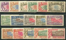 Reunion (1907) N 56 à 71 * (charniere) - Réunion (1852-1975)