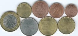 Belarus - 2009 - 1, 2, 5, 10, 20 & 50 Kopeks; 1 & 2 Roubles (KMs 561-568) In Circulation From 2016 - Belarus