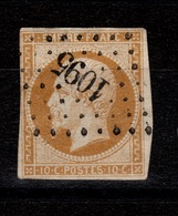 Napoleon YV 13A PC 1095 De Dienville, 4 Marges, Pas Aminci - Marcophilie (Timbres Détachés)