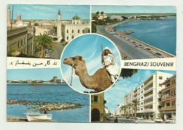 LIBIA - BENGHAZI SOUVENIR - GENERAL VIEW     VIAGGIATA FG - Libyen
