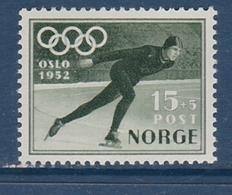 SPEED SKATING EISSCHENELTLAUF OLYMPIC GAMES OSLO 1952 MLH  MI 372 - Winter 1952: Oslo