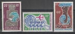 Polynésie Française - YT 77-79 ** - 1970 - Neufs