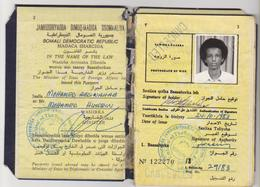 SOMALIA Passport 1983 SOMALIE Passeport – Reisepaß - Documenti Storici
