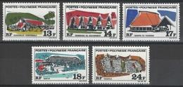 Polynésie Française - YT 72-76 ** - 1970 - Neufs