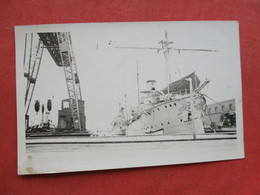 RPPC  Unknown Ship At Dock      Ref 3271 - Paquebote