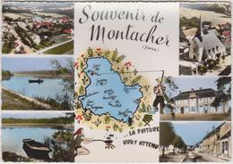 CPSM    Souvenir De MONTACHER 89 - Autres Communes