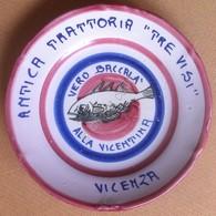 Piatto Buon Ricordo - Vicenza - Tre Visi - Baccalà Alla Vicentina - Grigio - 8E - Obj. 'Remember Of'