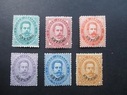 Italien / Levante 1881 6 Marken Mit Aufdruck Estero Ungebraucht / * / Falz Michel Nr. 12 - 17 Satz ?! Umberto - Bureaux D'Europe & D'Asie