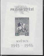 CECOSLOVACCHIA - LIBERAZIONE  - 1946 - FOGLIETTO NUOVO ** (YVERT BF10 - MICHEL A49 I° TIPO) - Blocchi & Foglietti