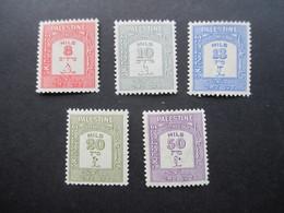 Palästina / Palestine Portomarken Nr. P 16 - 20 ** / Postfrisch - Palestine