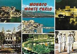 MONACO MONTE CARLO, PALAIS, CASINO, RELÈVE DE LA GARDE, LE PORT, CARTE VIERGE - Monte-Carlo
