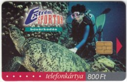 HUNGARY D-473 Chip Matav - Animal, Sea Life, Turtle / Leisure, Scuba Diving - Used - Hongrie